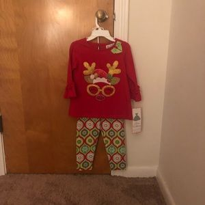 Rare Editions Christmas 2 Piece Outfit - 2T